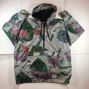 Adidas Floral 1/2 Zip Pullover Jacket (XL)